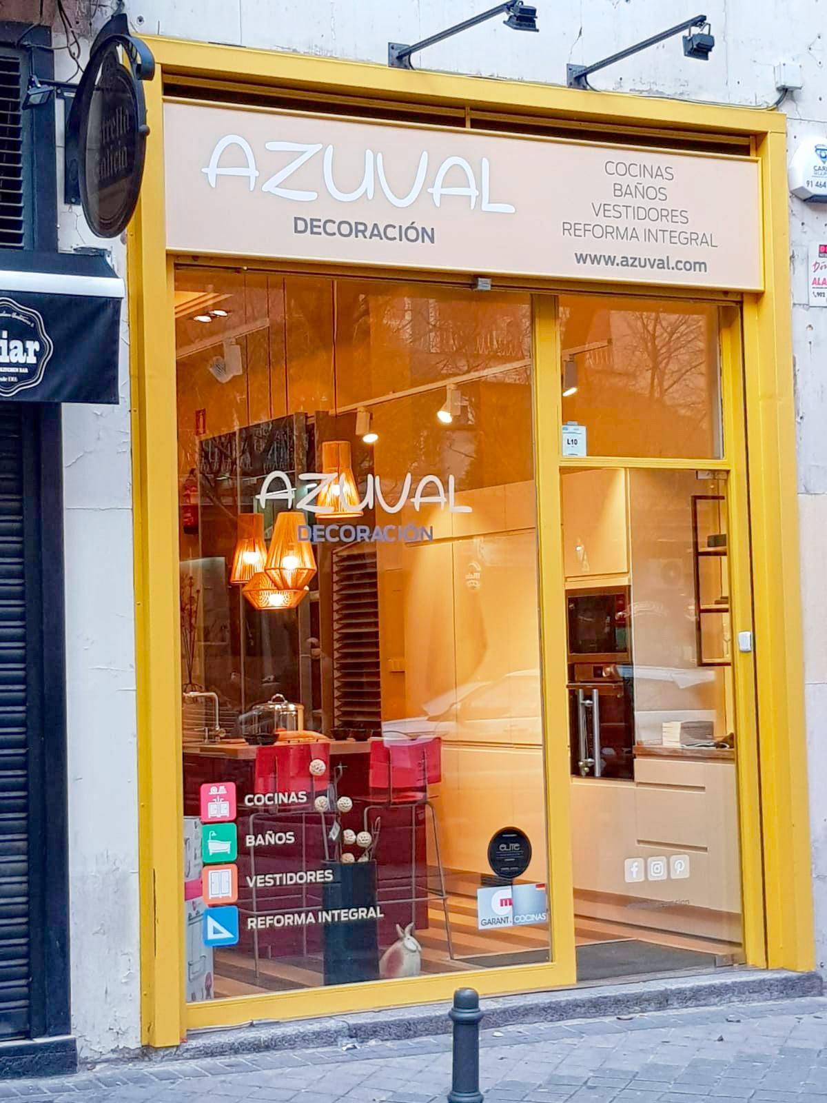 Nueva tienda Azuval Decoración en zona Santiago Bernabéu